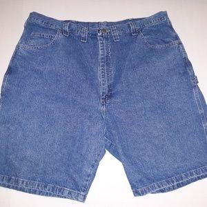Wrangler men's light denim carpenter shorts